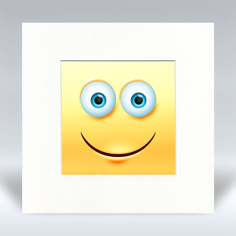Happy Emoji - Mounted Print