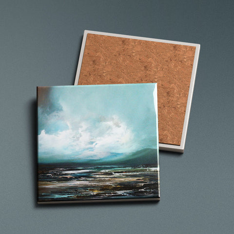 Hebridean Drift - Ceramic Coaster
