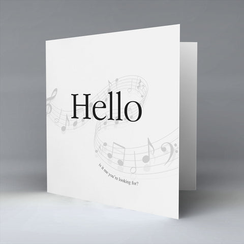 Hello - Greetings Card