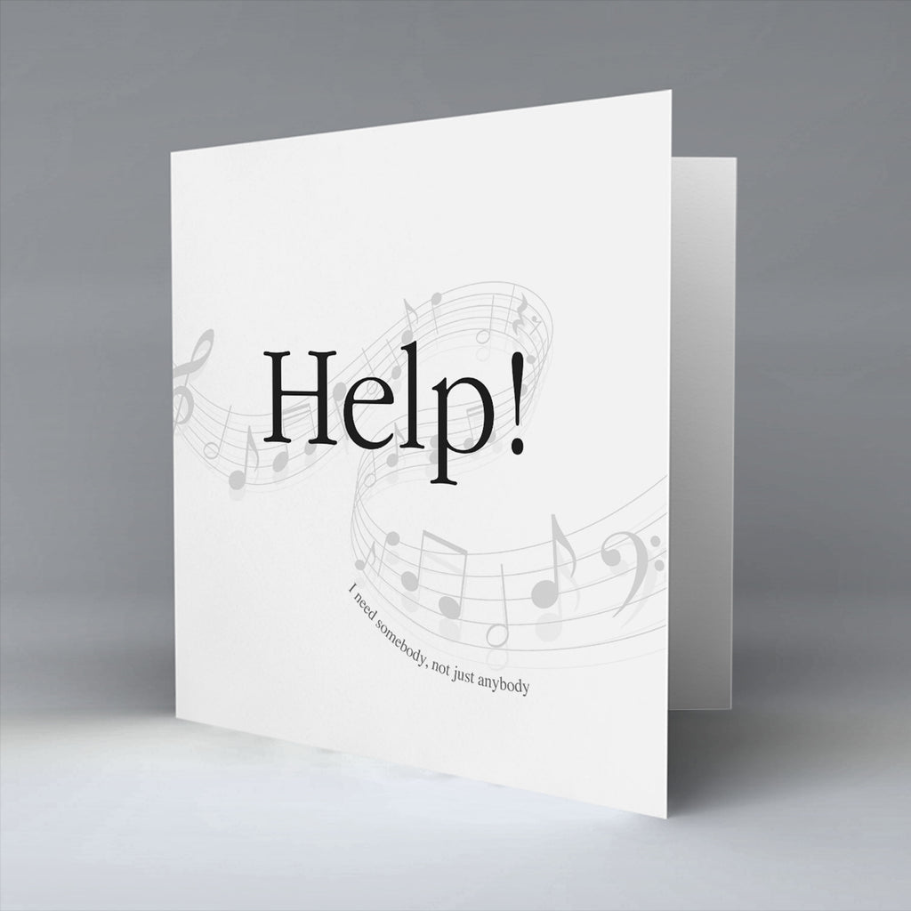 Help - Greetings Card