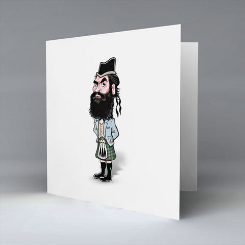 Highland Billy - Greetings Card