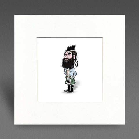 Highland Billy - Mounted Print