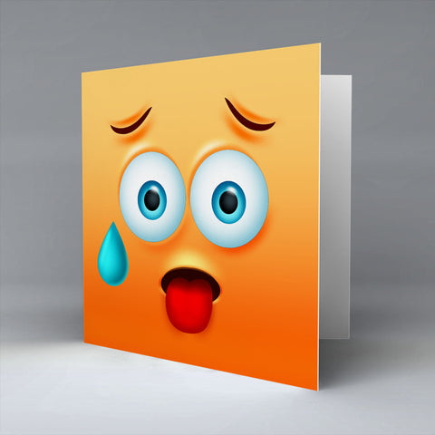 Hot Emoji - Greetings Card
