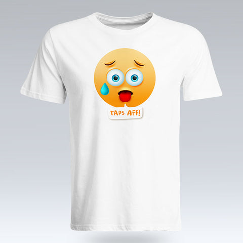 Taps Aff Emoji Text - T-Shirt