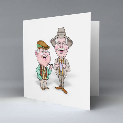 Auld Pals Greetings Card