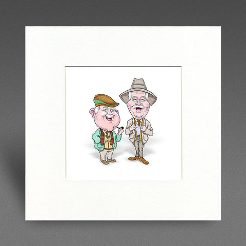 Auld Pals - Mounted Print