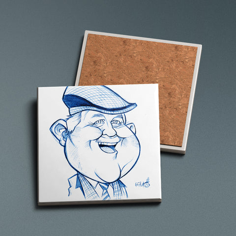 Ma Auld Pal - Sketched Ceramic Coaster