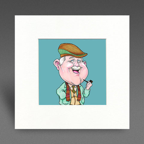 Ma Auld Pal - Colour Mounted Print