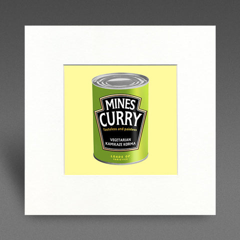 Mines Curry - kamikaze korma - Mounted Print