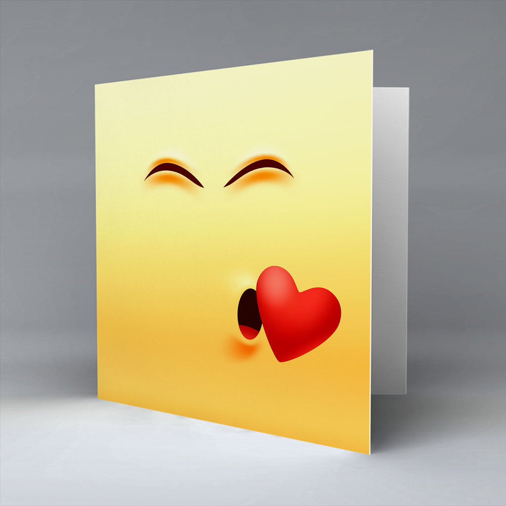 Kiss Emoji - Greetings Card