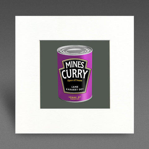 Mines Curry - lamb kaharry oot - Mounted Print