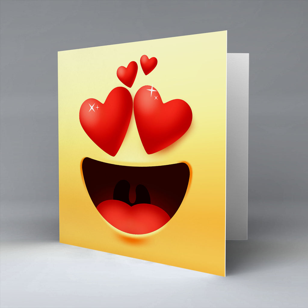 Love Emoji - Greetings Card