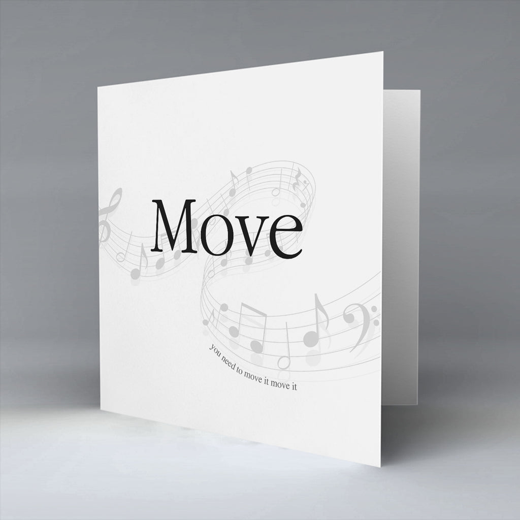 Move - Greetings Card