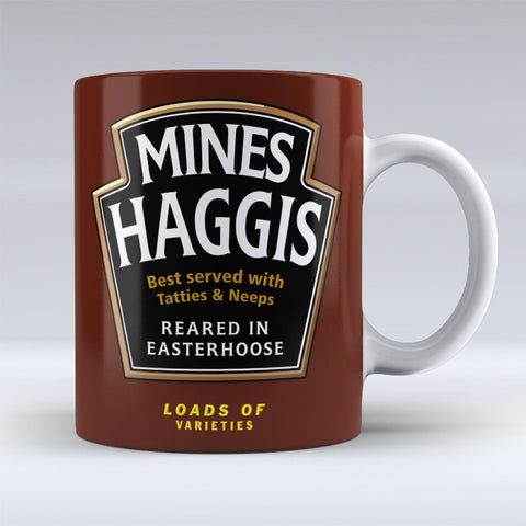 Mines Haggis - reared in easterhoose - Mug