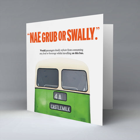 Nae Grub or Swally. - Greetings Card