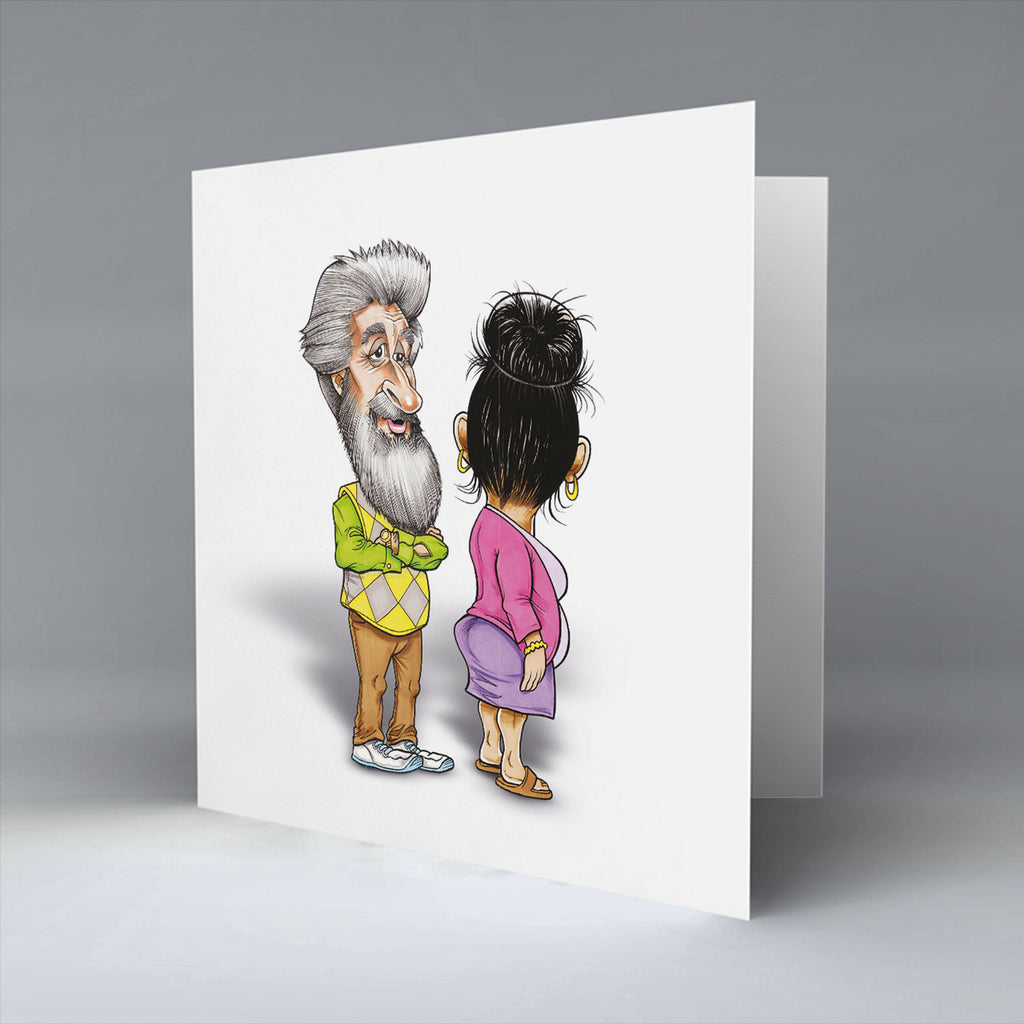 Platinum Mr & Mrs - Greetings Card