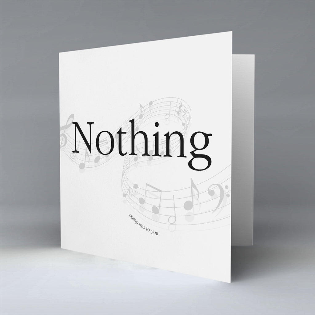 Nothing - Greetings Card