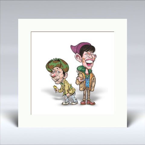 20p Fir Two Cups O' Tea - Mounted Print