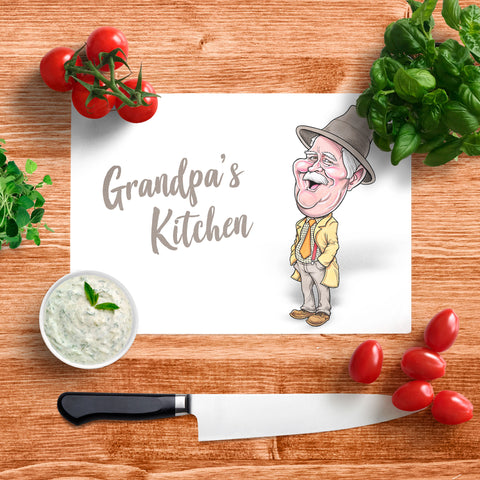 Platinum Grandpa's Kitchen Glass Chopping Board