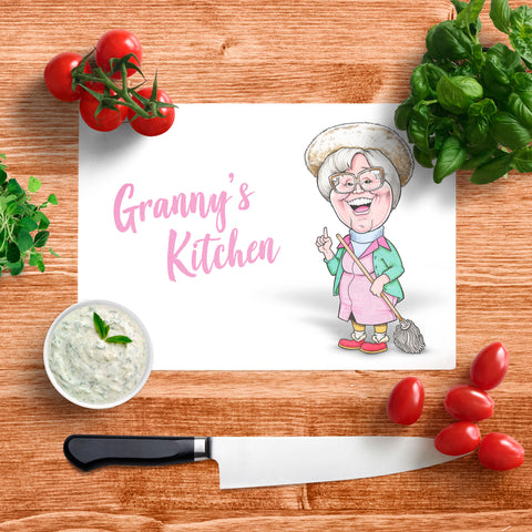 Platinum Granny's Kitchen Glass Chopping Board