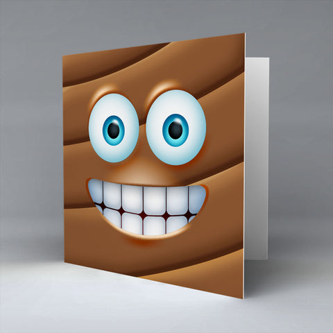 Poo Emoji - Greetings Card