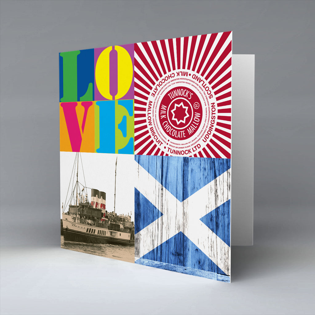 Glasgow Pop Art 3 - Greetings Card