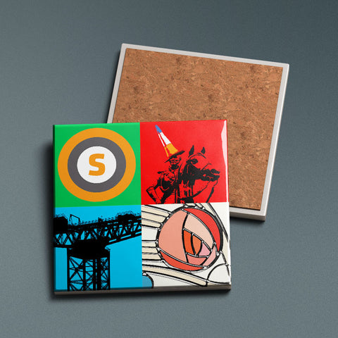 Glasgow Pop Art 2 - Ceramic Coaster