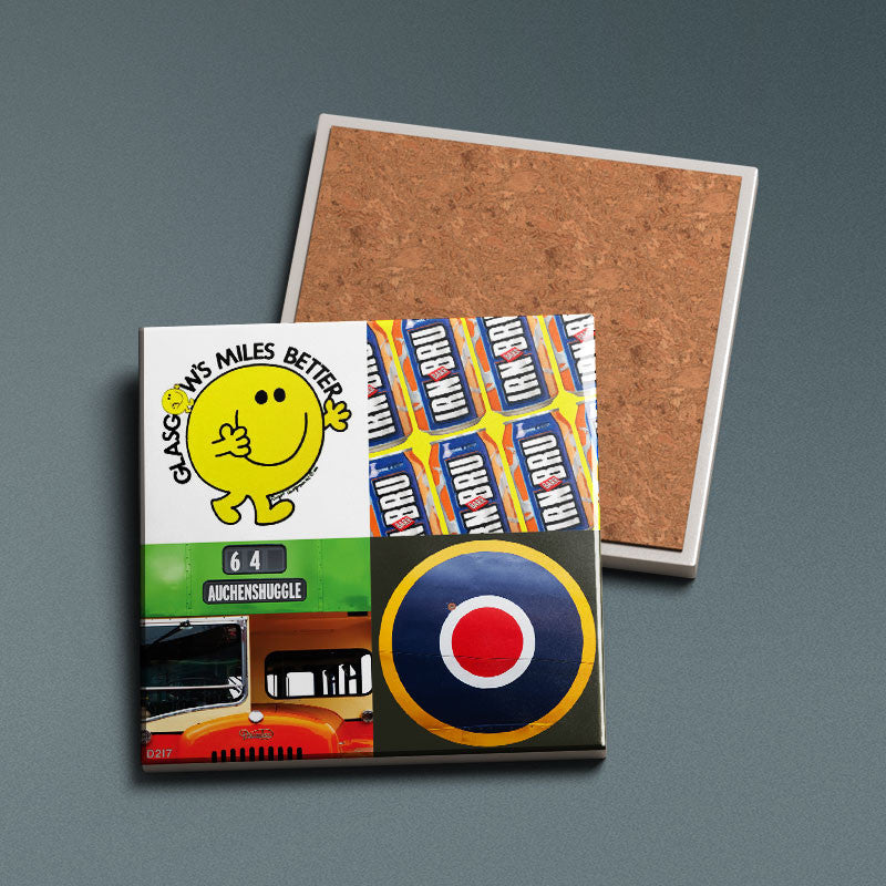 Glasgow Pop Art 4 - Ceramic Coaster