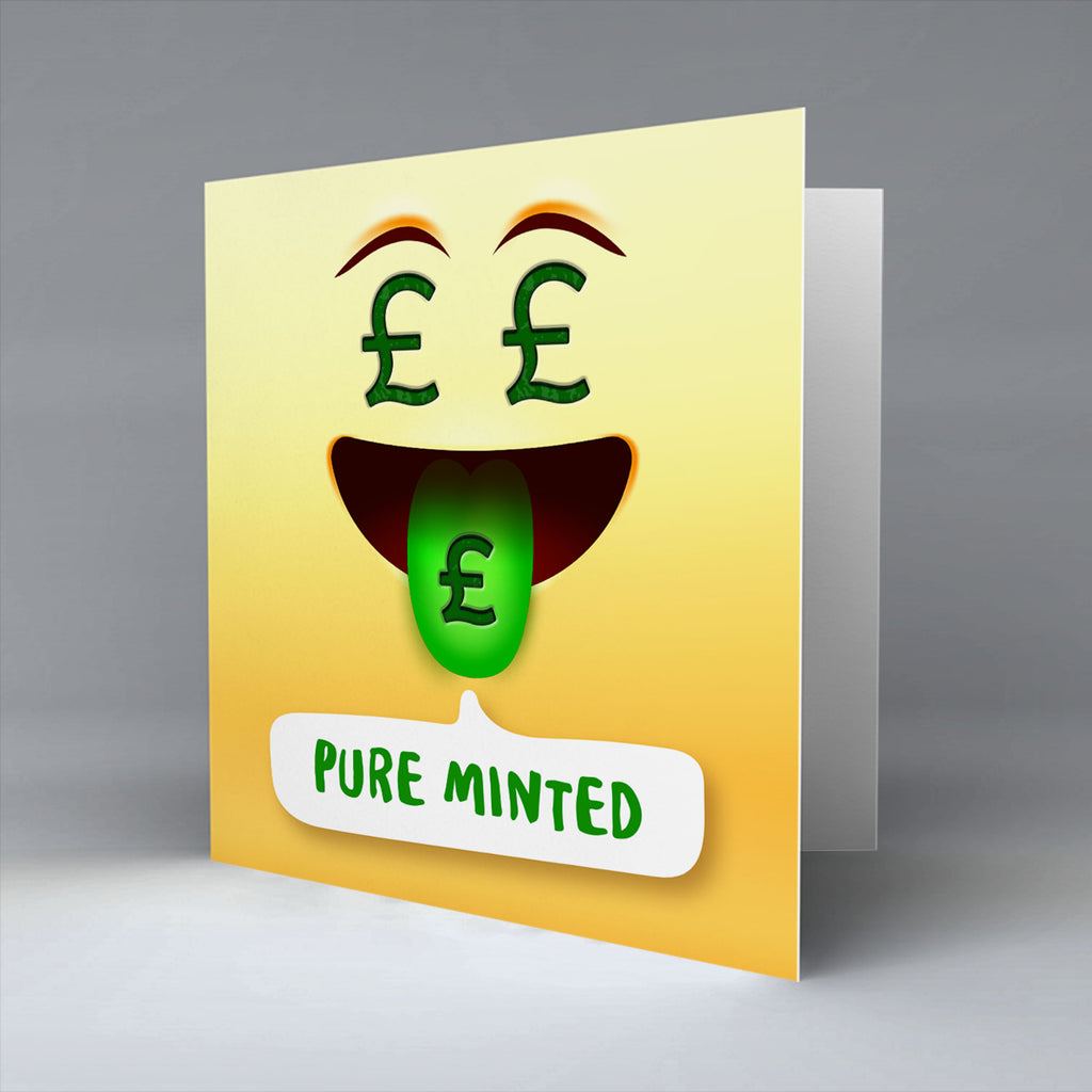 Pure Minted Emoji Text - Greetings Card