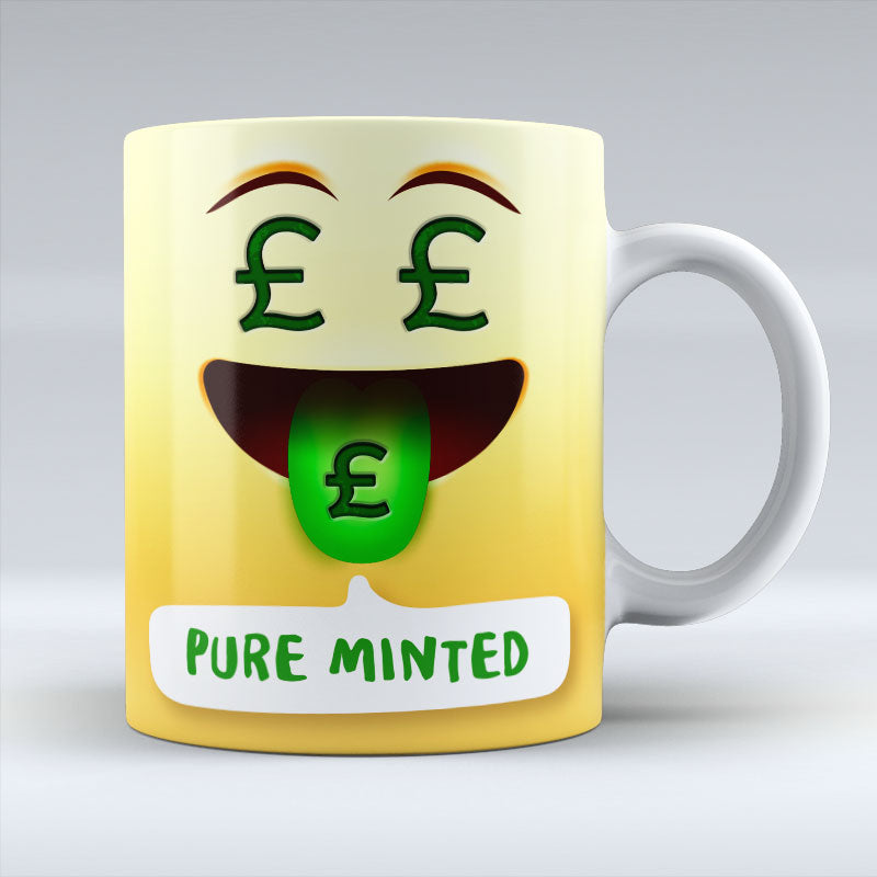 Pure Minted Emoji Text - Mug