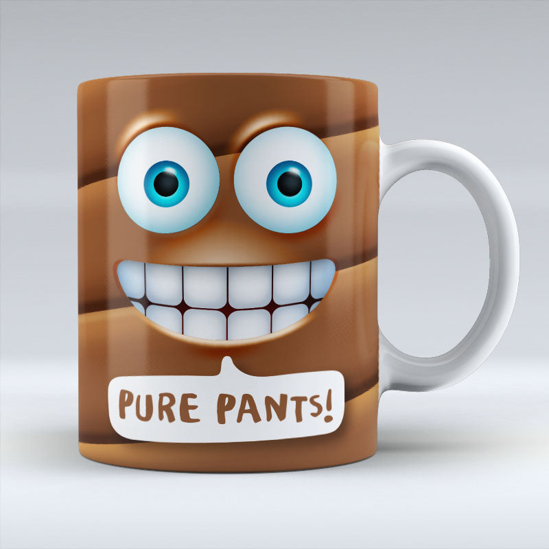 Pure Pants Emoji Text - Mug