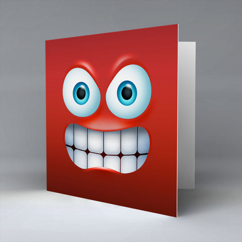 Ragin Emoji - Greetings Card