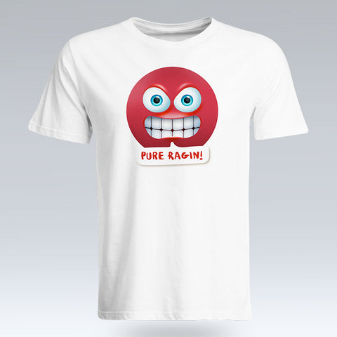 Pure Ragin Emoji Text - T-Shirt