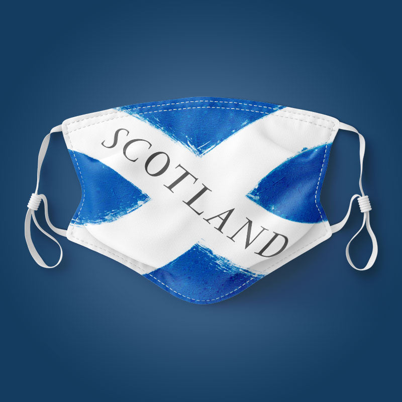 Scotland Word Flag - Face Mask