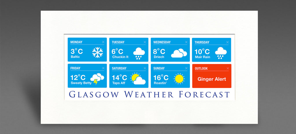 Scottish Weather - Mounted Print