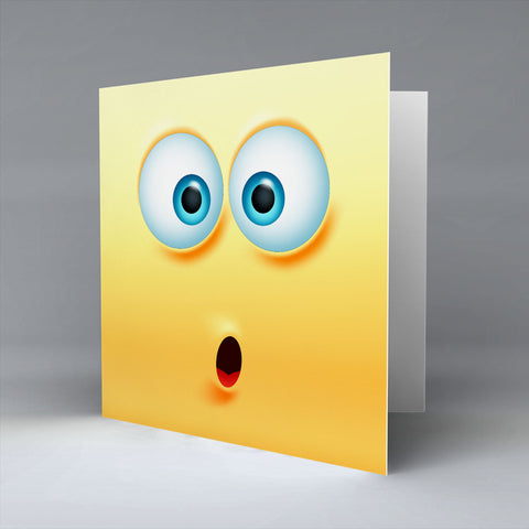 Shocked Emoji - Greetings Card