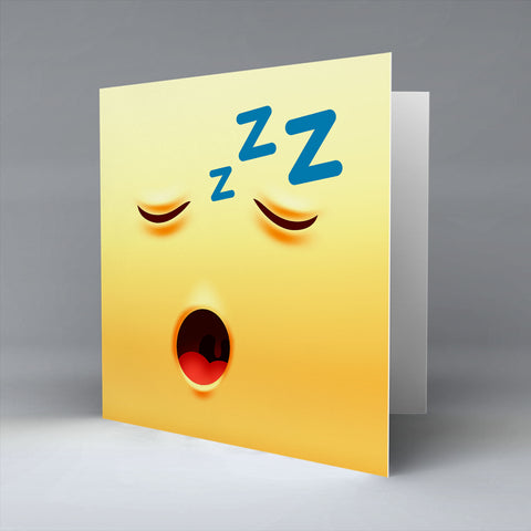 Sleeping Emoji - Greetings Card