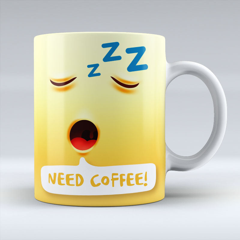 Need Coffee Emoji Text - Mug