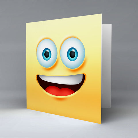 Smile Emoji - Greetings Card