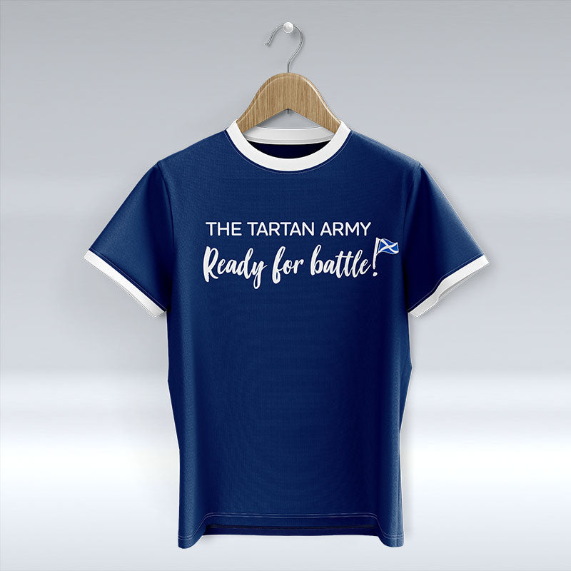 The Tartan Army - Ready For Battle! - Blue T-Shirt