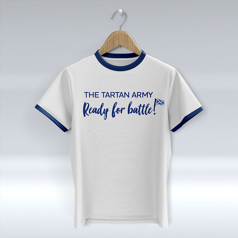 The Tartan Army - Ready For Battle! - White T-Shirt