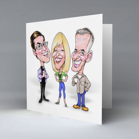 The Fecker Trio - Greetings Card