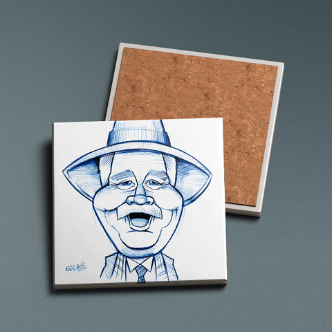 His Auld Pal - Sketched Ceramic Coaster