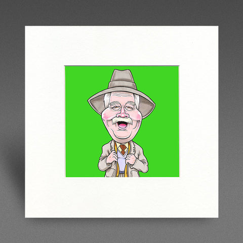 His Auld Pal - Colour Mounted Print