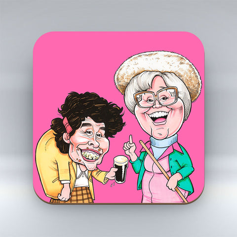 Wait til ah tell ye - Pink Coaster
