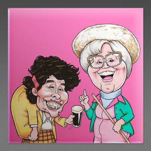 Wait til ah tell ye - Pink Fridge Magnet