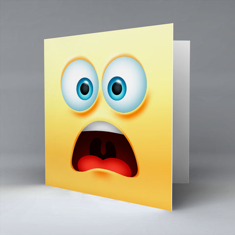 Worried Emoji - Greetings Card