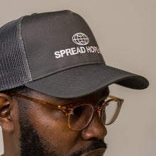 Load image into Gallery viewer, Gray Spread Hope Trucker Hat