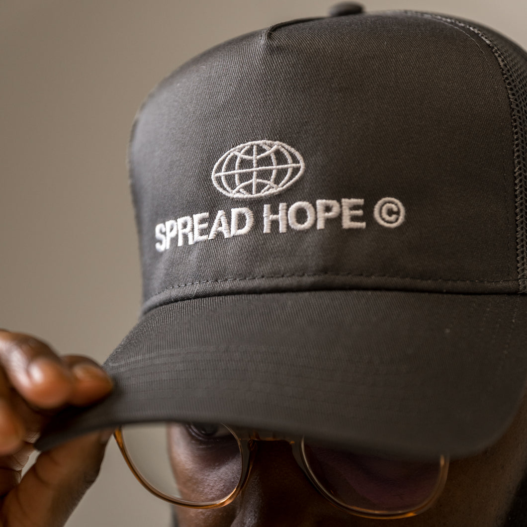 Gray Spread Hope Trucker Hat