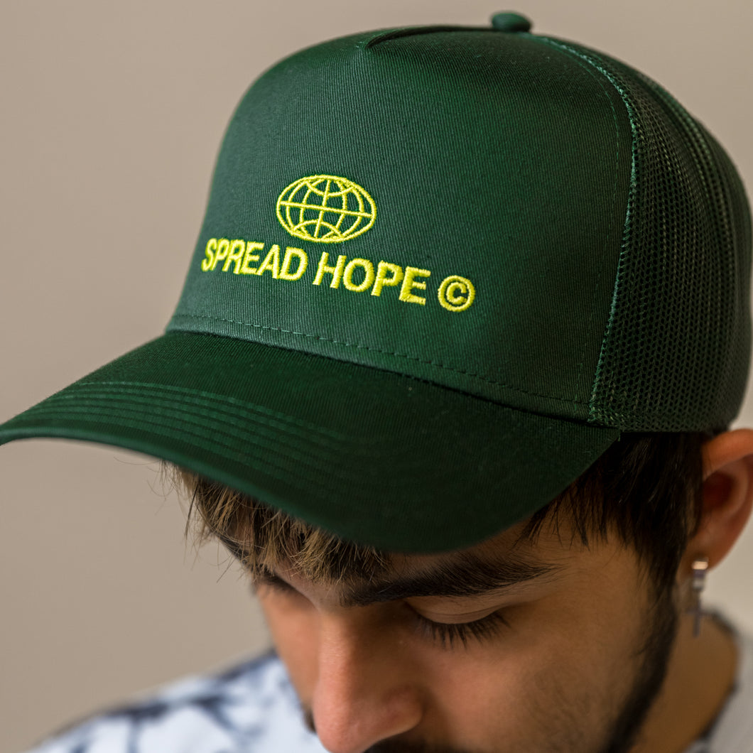 Green Spread Hope Trucker Hat